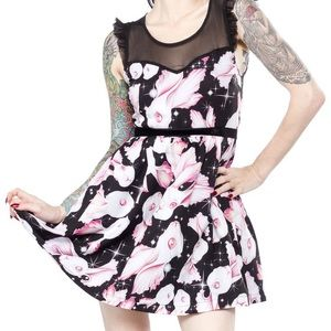 Iron Fist Rabbitopia space bunnies dress NWT
